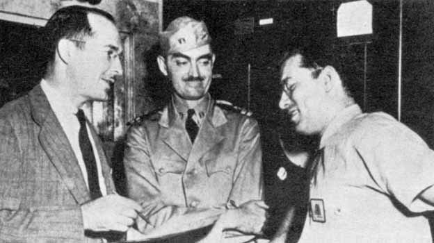 Robert Heinlein, L. Sprague de Camp, and Isaac Asimov