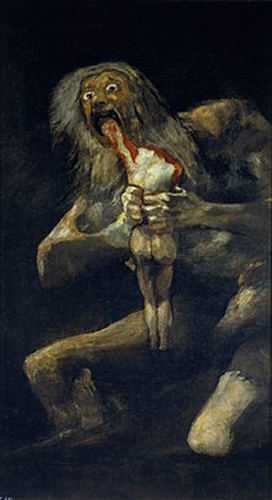 Saturn Devouring His Son--Goya