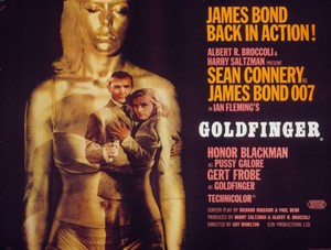 Golfinger movie poster--UK