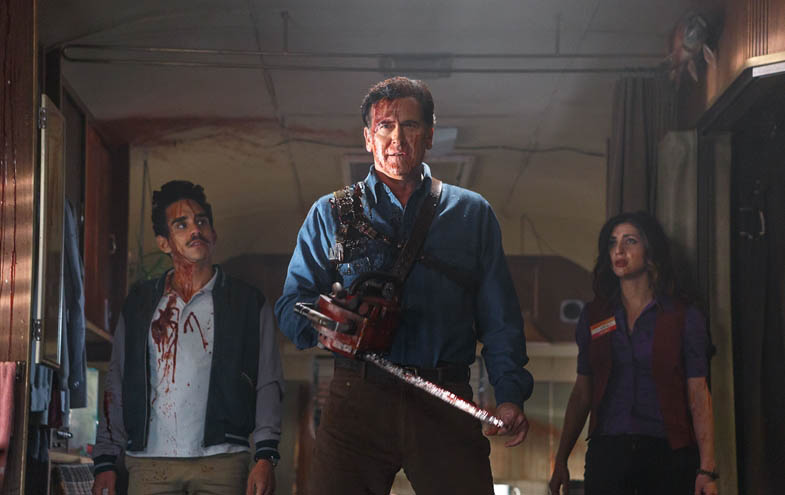 Our heroes in Ash vs. Evil Dead