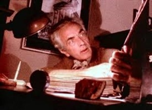 Fritz Leiber at work