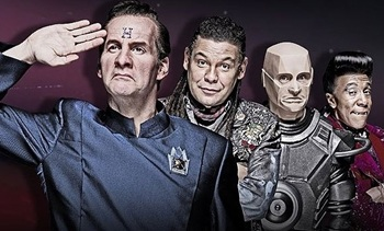 The crew of Red Dwarf, still lost in spacetime