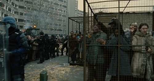 Police-state brutality in Children of Men