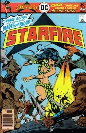 Starfire Issue # 2, doing what she does best