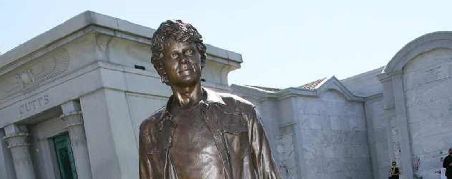 Statue of Anton Yelchin Dedicated in Garden of Legends